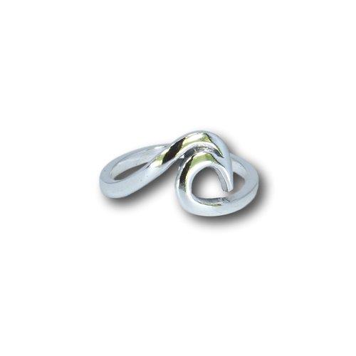 Zilveren ring Wave