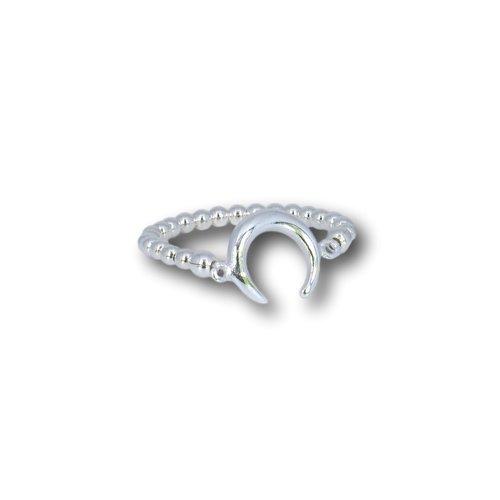 Zilveren ring Maan