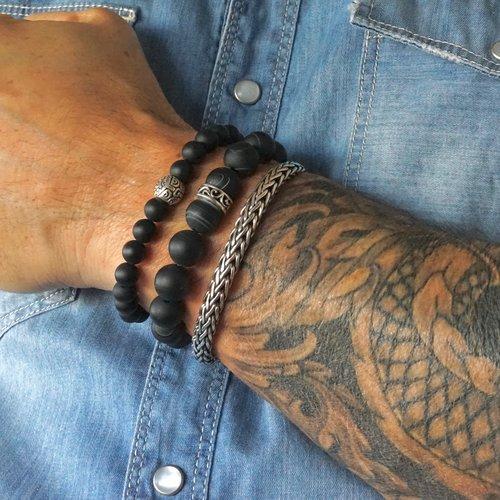 Kralen armband matte Agaat