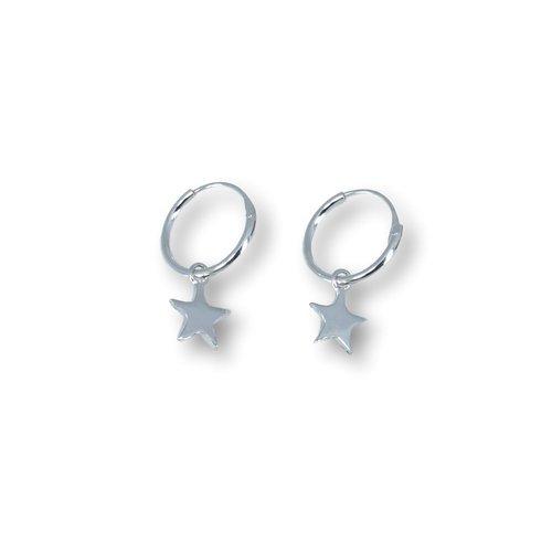 Zilveren oorbellen Ster