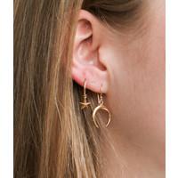 Goldplated oorbellen Star