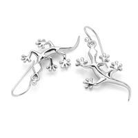 Zilveren oorbellen Salamander