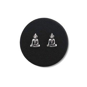 Zilveren oorknopjes Buddha