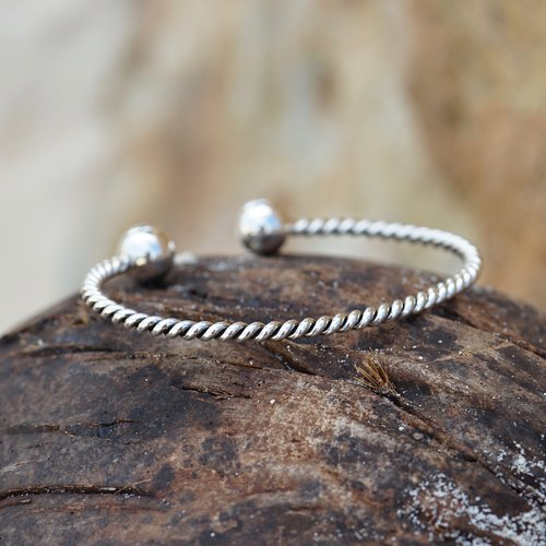 Zilveren armband Twister