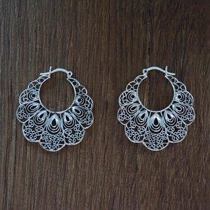 Zilveren oorbellen Migmar