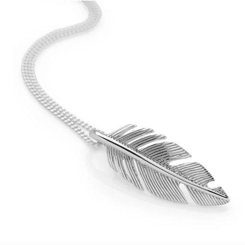 Zilveren hanger Feather