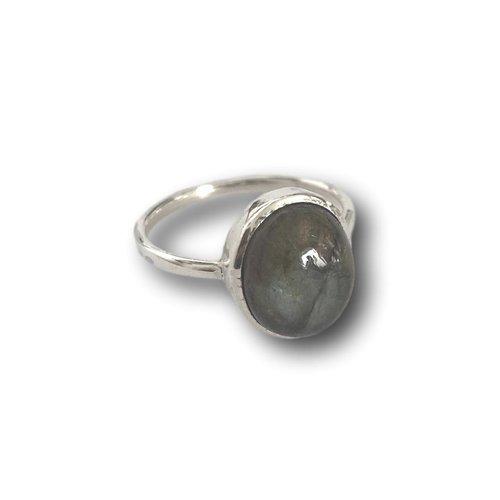 Zilveren ring Labradoriet Lily
