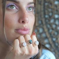 Zilveren ring Maansteen Maja