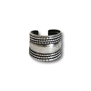 Zilveren Ear cuff Bali style