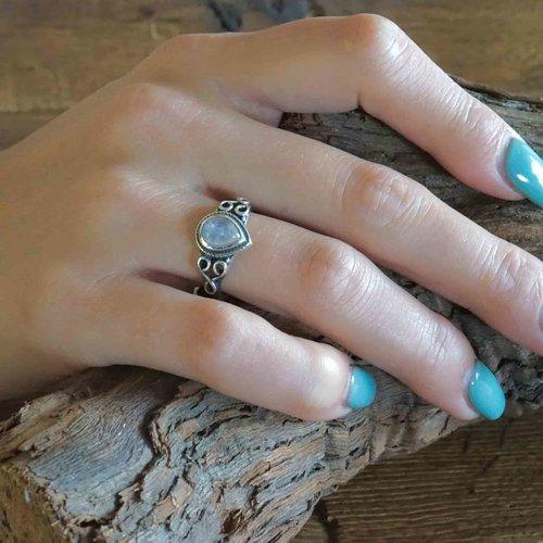 Zilveren ring Maansteen Roxanne