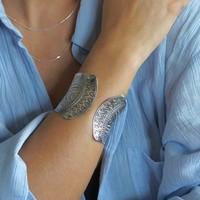 Zilveren BOHO klemarmband