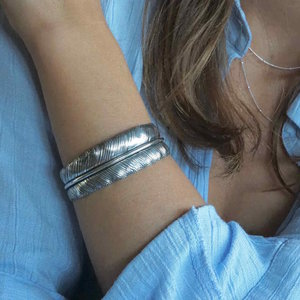 Zilveren armband Feather