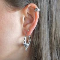 Zilveren oorbellen Gocha