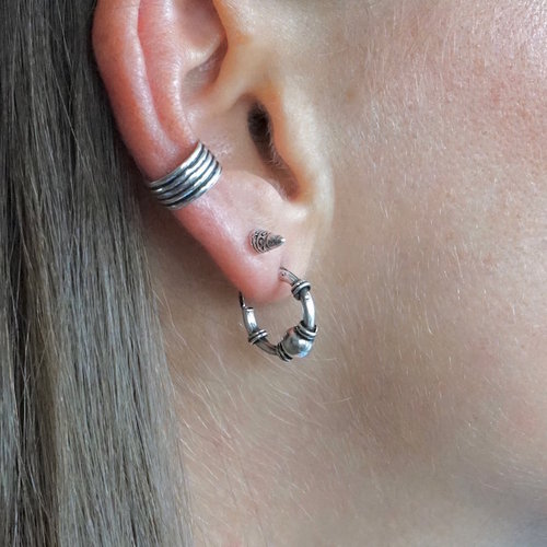 Bali Hoops oorbellen 10 mm