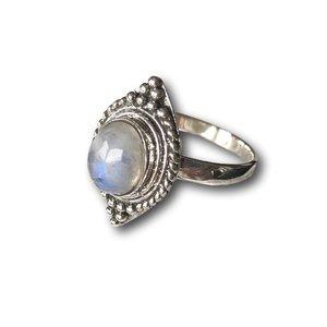 Zilveren ring maansteen Syona