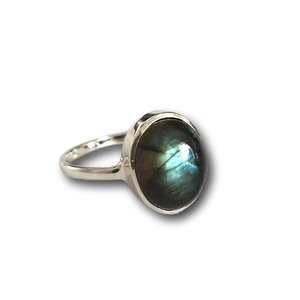 Zilveren ring Labradoriet Louisa