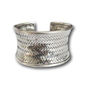 Zilveren braided armband