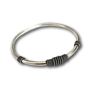 Zilveren Bali style Bangle armband