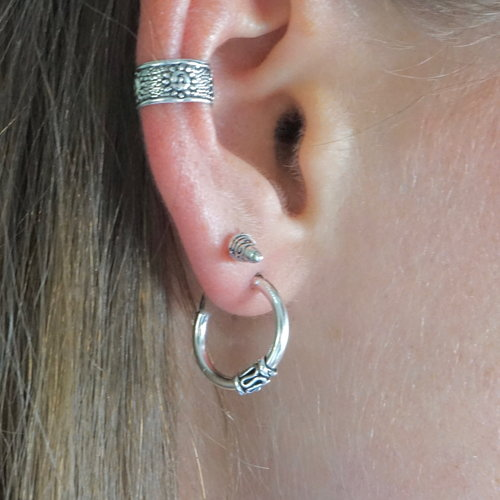 Bali hoops oorbellen 12 mm