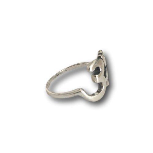 Zilveren ring Ohm