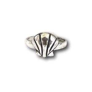 Teenring / vingertop ring Shell