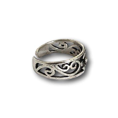 Teenring / vingertop ring Bloem