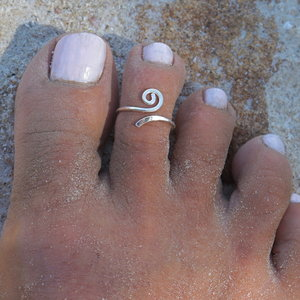 Teenring / vingertop ring Curly