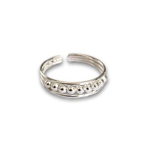 Teenring / vingertop ring zilver