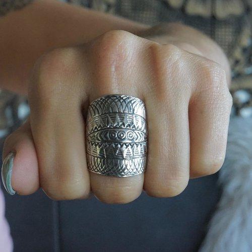 Zilvere ring Sarah