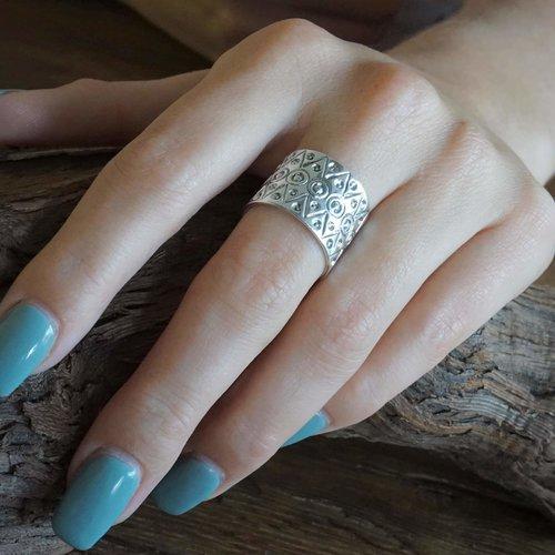 Zilveren ring Saya