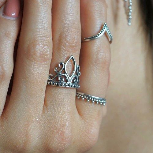 Zilveren ring Moyanne