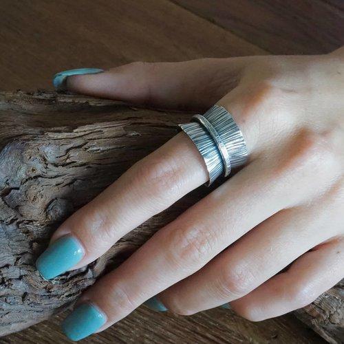 Zilveren ring Sascha