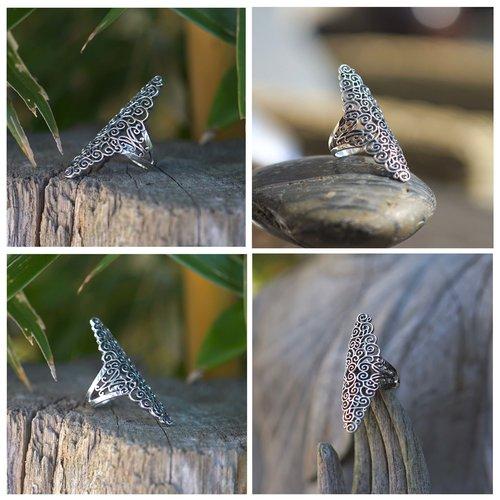 Zilveren Boho ring Lela
