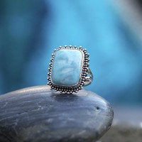 Zilveren Larimar ring Estata