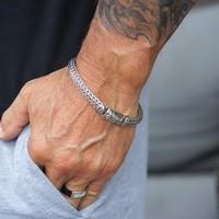 Zilveren Bali armband