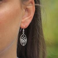 Zilveren oorbellen Lotus Flower