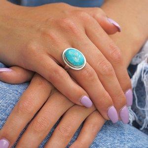 Zilveren ring Turquoise Elle