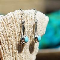 Zilveren oorbellen Turquoise