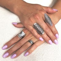 Zilveren Boho ring Freather