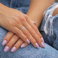 Teenring / vingertop ring FLOWER POWER