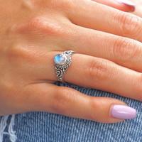 Zilveren ring maansteen Amy