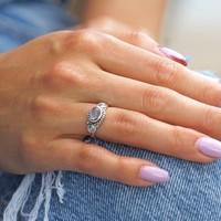 Zilveren ring maansteen Marilyn