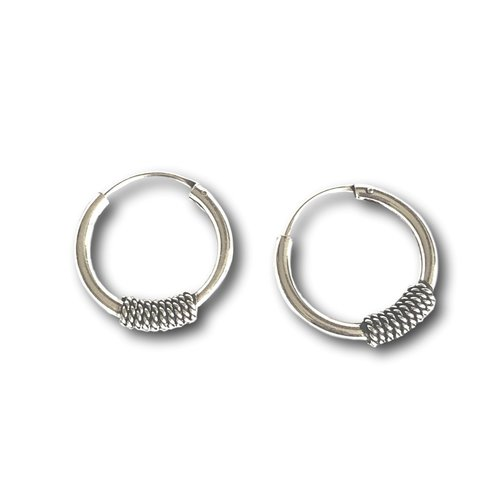 Bali hoops oorbellen 14 mm