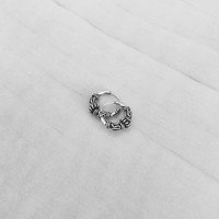 Bali hoops oorbellen 7 mm