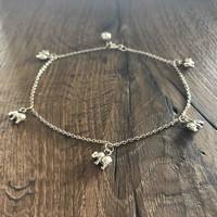 Zilveren enkelbandje Olifant
