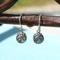 Zilveren oorbellen Blue Topaz
