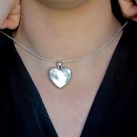 Zilveren hanger Shell hart