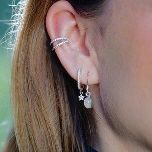 Zilveren oorbellen Shining Star