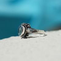 Zilveren ring Blue Topaz Utami