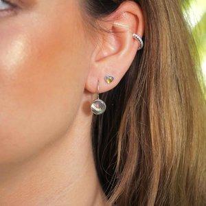 Zilveren oorbellen Abalone